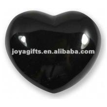 Черные обсидиановые каменные сердца 40мм