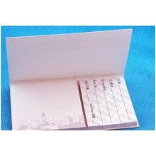 Notas adhesivas impresas con cubierta dura blanca, para Memo familiar
