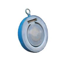 Clapet anti-retour doublé en plastique de fluorure de disque unique de disque (GAH74F)