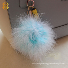 10cm Turkey Feather Ball Iphone Key China Mini Cute Fur Pompon Keyring Pendant