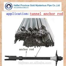Propriétés mécaniques tube en acier pour boulon d'ancrage