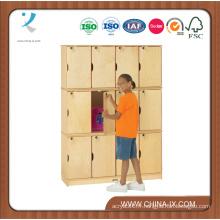 Triple empilant des casiers d'enfants avec 15 & rdquor; Compartiments profonds
