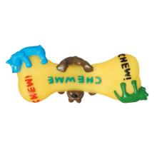 Brinquedo de cachorro de osso de vinil com cachorro para cachorro