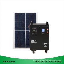 Manufaturando o gerador de energias solares 220V portátil para o uso home