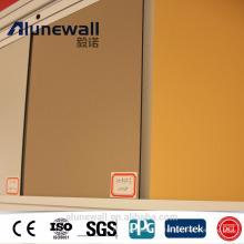 Producto de alta calidad de la marca de fábrica de Alunewall con la mejor lista de precios Panel compuesto de aluminio nano de 4m m PVDF