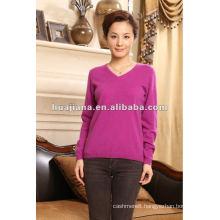 Simple women's 100% cashmere sweaters knitwear