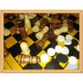Jeu de jeu en bois 5 en 1 ensemble de jeu d'échecs en gros