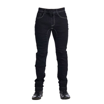 Men's Denim Jogger Pants Black Cotton Denim Pants
