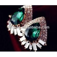 2014 accesorios de moda esmeralda pendientes