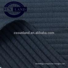 19SS knit new design 100% polyester jacquard air layer horizontal stripe knit fabric