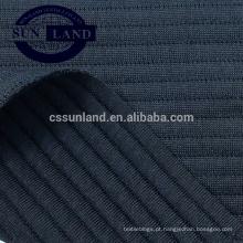 19SS malha novo design 100% poliéster jacquard ar camada horizontal listra tecido de malha