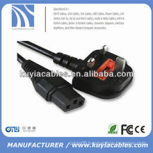 High quality UK power cable for notebook computer 1.5m