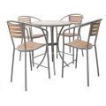 Outdoor Furniture 5pc Imitation wood bar set