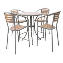 Outdoor Furniture 5pc Imitation wood bar set