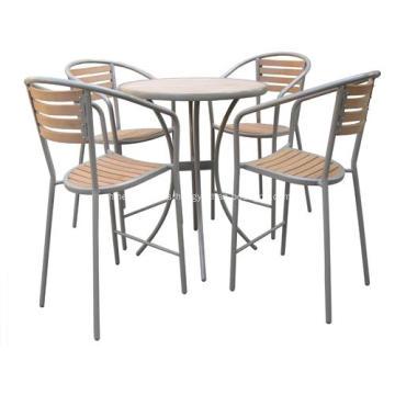 Al aire libre muebles 5pc imitación madera barra set