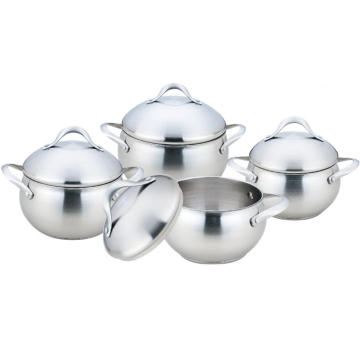 Stainless Steel Casting Handle Apple Shape Casserole Pot
