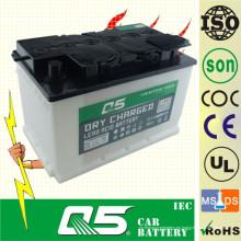 DIN80 12V80AH, venta caliente de baterías de coches cargados en seco
