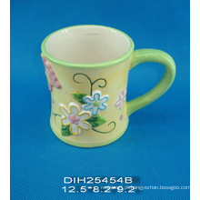 Caneca de café cerâmica pintada à mão