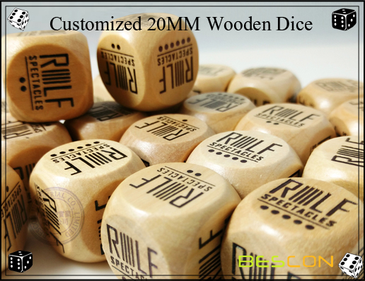 Customized 20MM Wooden Dice