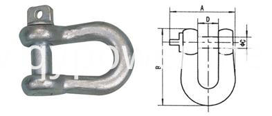 High Strength D Shackle
