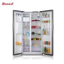 SMAD Refrigerador de lado a lado de acero inoxidable con máquina para hacer hielo