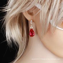 Boucle d'oreille en zircon cubique plaquée or 18 carats