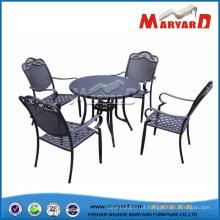 Mobília exterior do jardim da mobília da casa do grupo de jantar exterior da mobília do alumínio de molde