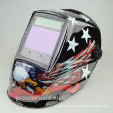 Design patenteado Solar Auto Darkening soldagem capacete