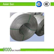 Barra de alambre de aluminio de alta pureza en bobinas con venta caliente