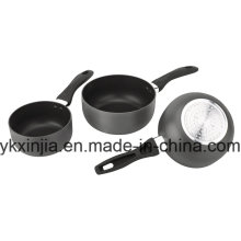 Aluminum Carbon Steel Non-Stick Hard Anodize Sauce Pan Cookware