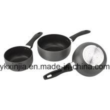 Alumínio Carbono Aço Anti-Stick Hard Anodizar Molho Pan Panelas