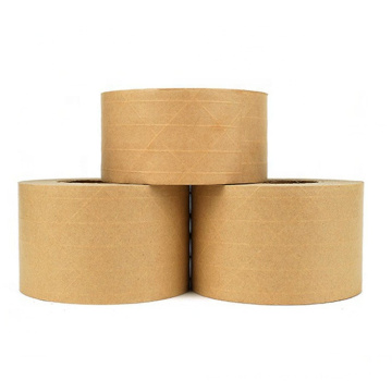 Wholesale Brown Self Adhesive Reinforced Kraft Paper Tape For Packing