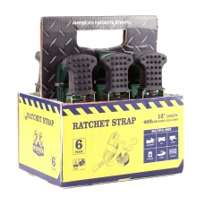 6 πακέτο 25mm Smart Ratchet Tie Down Strap