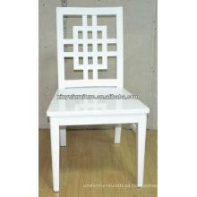 Cruz silla de boda de madera blanca completa XP176