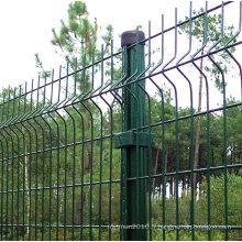 Barrière de treillis métallique galvanisé de clôture/maille fil enduit de PVC
