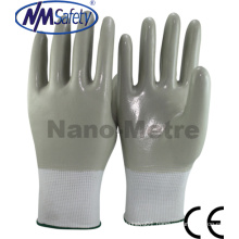 Nmsafety Nylon Fully Coated Smooth Nitrile Oil Field Work Gloves