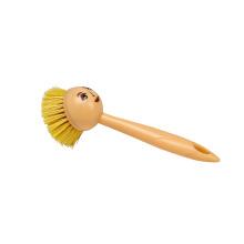Escova de lavagem pequena do prato da boneca 21 * 7 da cerda plástica da cozinha da limpeza com cara