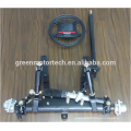 Car suspension system with steel