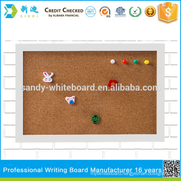 small cork boards with photo frame white frame board 20*30cm/7.8*11.8""