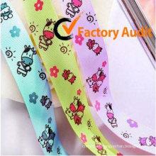 Printed satin ribbon