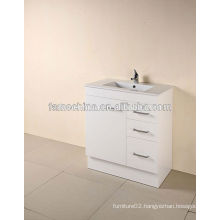New MDF bathroom furniture Glass basin bathroom mirror cabinet with l...