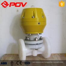 válvula neumática de control de gas pvdf