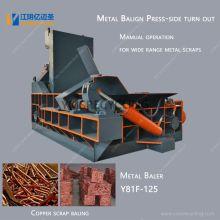 Presse à balles métalliques pour ferraille de cuivre