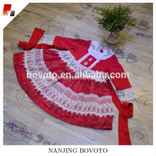 JanntBB Chinese red long sleeves Christmas dress