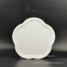 Plaque de vaisselle en forme de fleur de conception novatrice