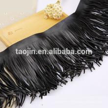 Guarnición de cuero de la franja de la borla de la manera 2016, borla de cuero para la bufanda