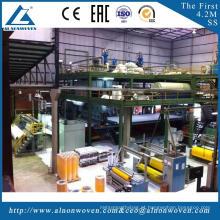 Eficiência elevada AL-4200 SS 4200mm tela não tecida que faz a máquina com baixo preço