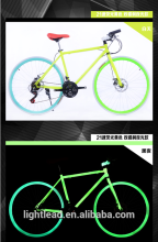 2016 21 speed 700C Carbon Steel Road bicycle&glow bicycle sports bike glow in dark bike
