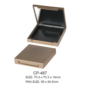 Empty Square Cosmetic Case with Mirror