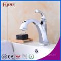 Fyeer Nouveau Design Niedrig Corps Chrome Plaqué Crooked Quadrate Bec Mitigeur Robinet Mitigeur D'eau